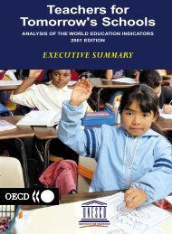 Teachers for tomorrow's schools: analysis of the ... - unesdoc - Unesco