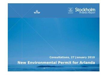 New Environmental Permit for Arlanda - Swedavia