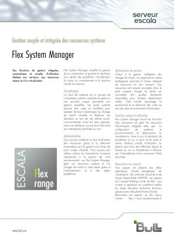 Télécharger le flyer Flex System Manager - Bull