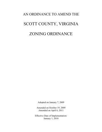 SCOTT COUNTY, VIRGINIA ZONING ORDINANCE