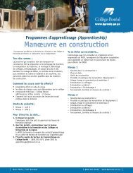 Construction Craft Workers prepare and clean… - Collège Boréal