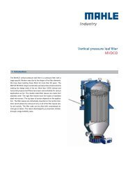 Vertical pressure leaf filter MVDCD - MAHLE Industry - Filtration