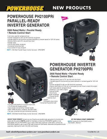 Powerhouse Inverter Generators - American RV Company