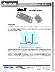 Tuning Doherty Combiners - Richardson RFPD