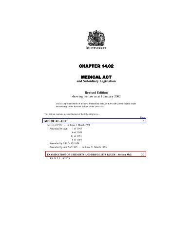 CHAPTER 14.02 MEDICAL ACT