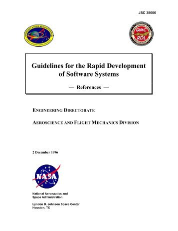 Guidelines for the Rapid Development of Software Systems - GSE