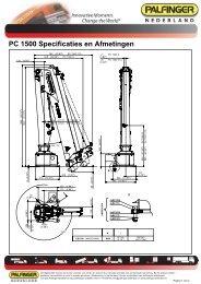 PC 1500 Specificaties en Afmetingen - Palfinger