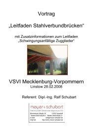"Vortrag ""Leitfaden Stahlverbundbrücken"" VSVI ... - VSVI MV"