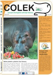 časopis Čolek podzim 2007 - Zoo Ostrava