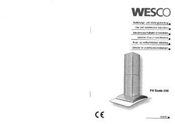 FH scala 200 - Montage- und Bedienungsanleitung - aktuell - Wesco