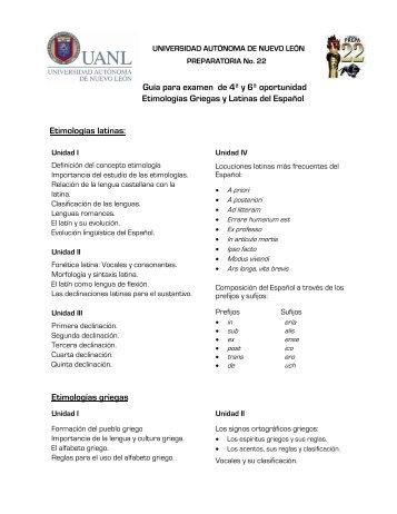 Guía para examen de 4ª y 6ª oportunidad ... - Preparatoria 22