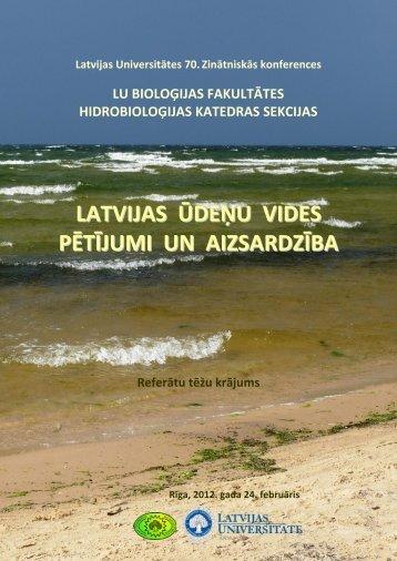 Konferences tēzes - Klimata maiņas ietekme uz Latvijas ūdeņu vidi ...