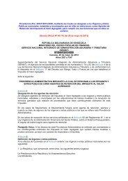 SENIAT Prov. Nº 0029 Agentes Ret. IVA Órganos y ... - cpzulia.org