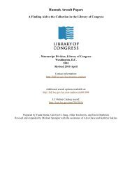 Papers of Hannah Arendt [finding aid]. Library of Congress. [PDF ...