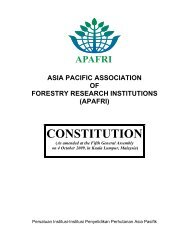 APAFRI's Constitution - APAFRI-Asia Pacific Association of Forestry ...