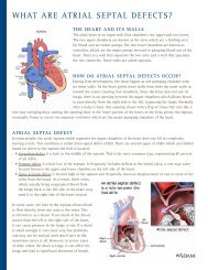 What are atrial Septal DefectS? - Henry Ford Hospital