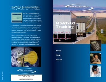 MSAT-G2 Tracking - Remote Satellite Systems
