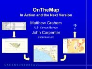 OnTheMap In Action and the Next Version - U.S. Census Bureau