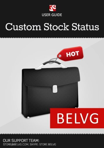 Custom Stock Status User Guide - BelVG Magento Extensions Store