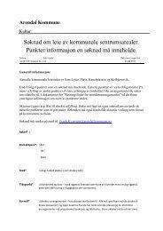 Søknadsskjema for leie av sentrumsarealer (pdf) - Arendal kommune
