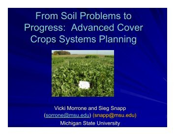 Advanced Cover Crop Systems - Organic Farming Exchange ...