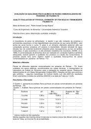 avaliação da qualidade físico-química de peixes ... - SOVERGS