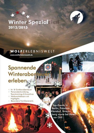 Winter Spezial - Wolferlebniswelt