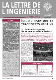 La lettre de l'Ingénierie n°57 mai 2000.pdf - Syntec ingenierie