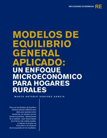 modelos de equilibrio general aplicado - Universidad Rafael Landívar