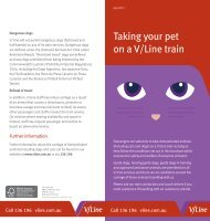 Taking your pet on a V/Line train