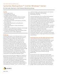 Symantec Backup Exec™ 11d für Windows® Server - MaxData