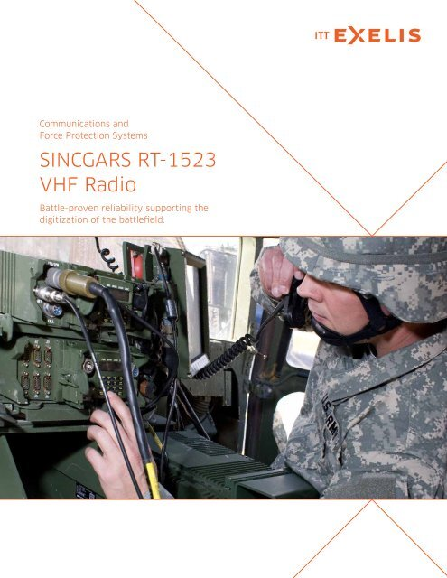 ITT Exelis SINCGARS RT-1523 VHF Radio