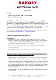 ZAPP Circular no. 29 - DAKOSY Datenkommunikationssystem AG