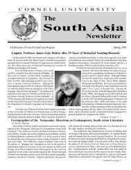 Spring 2000 - South Asia Program - Cornell University