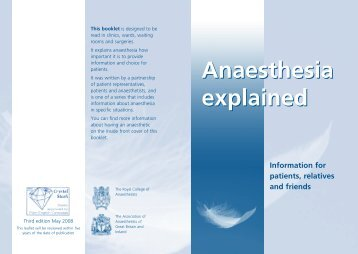 Anaesthesia explained Anaesthesia explained - Papworth Hospital