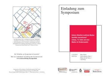 Einladung zum Symposium - FJUM