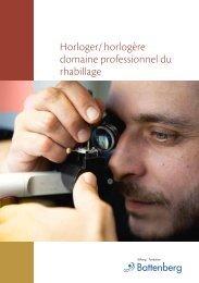 Horloger/ horlogère domaine professionnel du rhabillage - Stiftung ...