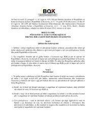 Rregullore per Hapjen e Zyrave Perfaqesuese Brenda dhe Jashte ...