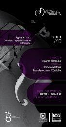PROGRAMA 9 Y 10 JULIO.pdf - Orquesta Filarmónica de Bogotá