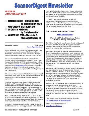 Issue 55 - Scanner Digest Newsletter