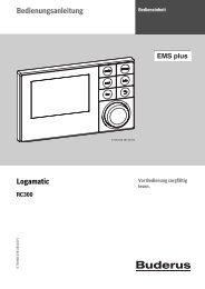 Bedienungsanleitung Bedieneinheit RC300 - Heizungen