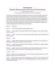 Draft Agenda Adaptive Management In the Face of Climate Change
