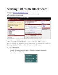 Working with Blackboard