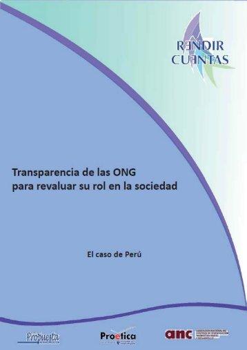 Rendir Cuentas / Informe Perú 2012 - Desco