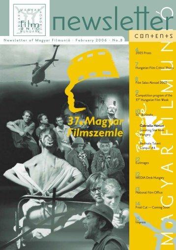 CONTENTS - Magyar Filmunió