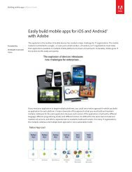 Easily build mobile apps for iOS and Android™ with Adobe