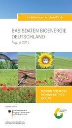 Basisdaten Bioenergie Deutschland 2012 (deutsch) - BMELV
