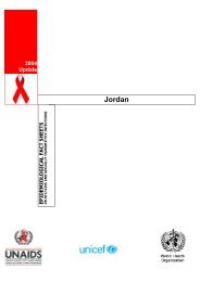 Jordan : epidemiological fact sheets on HIV/AIDS and ... - unaids