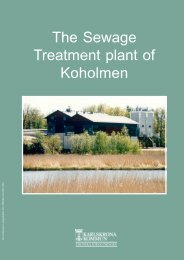 The Sewage Treatment plant of Koholmen