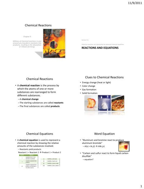 Ch 09 Notes - Honors Chemistry